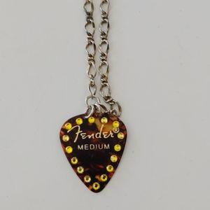 Fender Guitar pick necklace